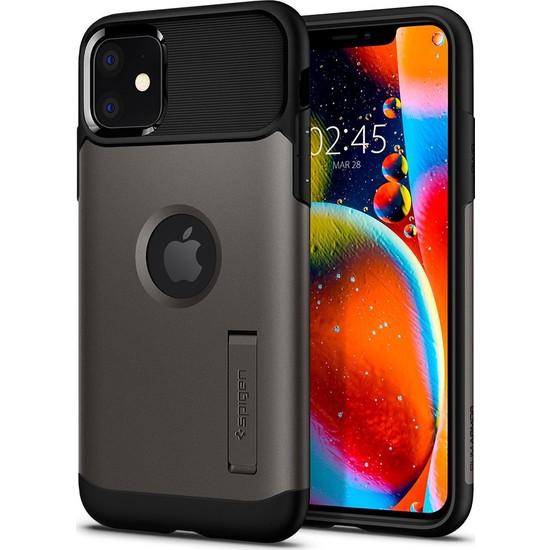 Spigen Apple iPhone 11 Kılıf Slim Armor Gunmetal - 076CS27077