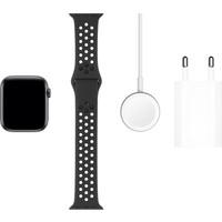 Apple Watch Nike Seri 5 44mm GPS Space Grey Alüminyum Kasa ve Antrasit/Siyah Nike Spor Kordon MX3W2TU/A