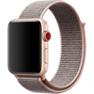 Zaks Apple Watch Serisi 1/2/3/4/5 Hasır Kordon 42 - 44 mm - Rose Gold