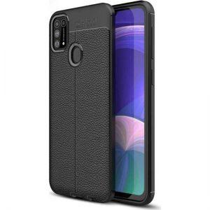Case 4U Samsung Galaxy M31 Kılıf Darbeye Dayanıklı Niss Arka Kapak + Cam Ekran Koruyucu Siyah