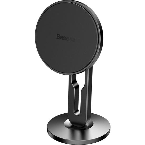 Baseus Hollow Mıknatıslı 3M Yapışkanlı Telefon Tutucu (Torpido Üstü)-Siyah SULK-01