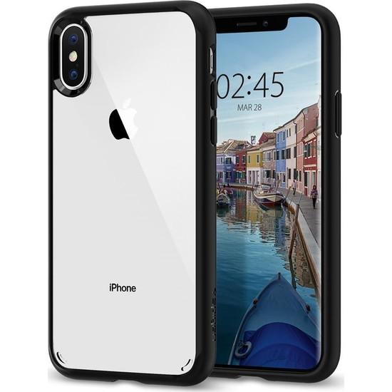 Spigen Apple iPhone XS / iPhone X Kılıf Ultra Hybrid Matte Black - 063CS25116