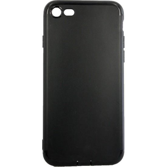 Case 4U Apple iPhone SE 2020 / iPhone 8 / iPhone 7 Kılıf İnce Silikon Arka Kapak - İmax - 0.2mm - Siyah