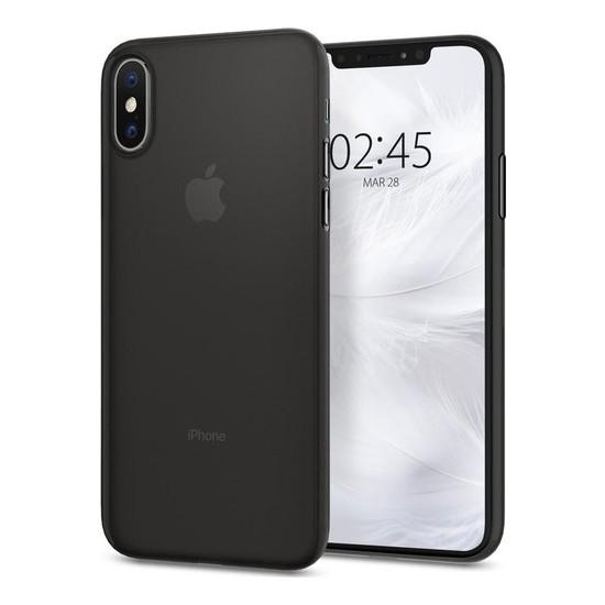 Spigen Apple iPhone XS / iPhone X Kılıf Air Skin (0.3 mm) Ultra İnce Black - 063CS24910