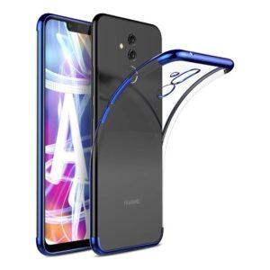 RedClick Huawei Mate 20 Lite Kılıf Ultra Slim Şeffaf Dört Köşe Lazer Silikon - Mavi