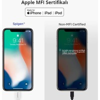 Spigen Essential Apple Lightning Şarj ve Data Kablo (2 Metre) MFI Lisanslı Made For Apple C20LS - 000CB24457