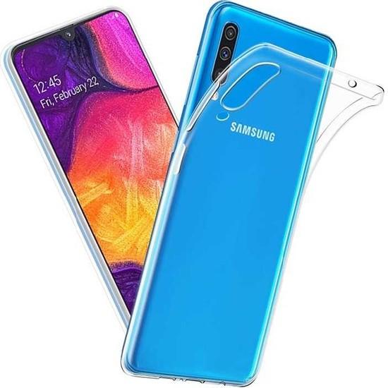 Case 4U Samsung Galaxy A70 Kılıf Süper Silikon Arka Kapak Şeffaf
