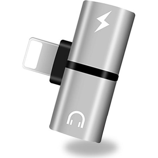 Codegen Apple iPhone Lightning 2 Port Çoklayıcı Dönüştürücü Gümüş Adaptör CDG-CNV43