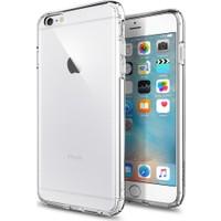 Aktif Aksesuar Apple iPhone 6 Plus / 6s Plus Şeffaf Silikon Kılıf Ultra Ince Lens Korumalı Tıpalı Kapak