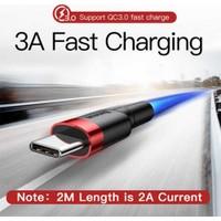 Schulzz Baseus Type-C Hızlı Şarj Kablosu 3A 1 mt - Gri