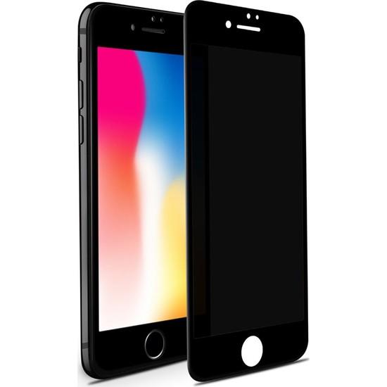 Case 4U Apple iPhone SE 2020 / iPhone 8 / iPhone 7 Privacy Hayalet Cam Ekran Koruyucu Siyah