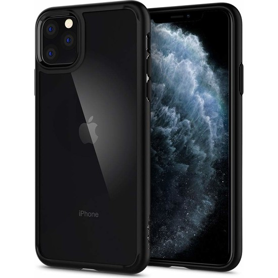 Spigen Apple iPhone 11 Pro Kılıf Ultra Hybrid Black - 077CS27234