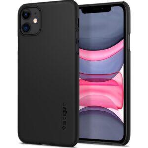 Spigen Apple iPhone 11 Kılıf Thin Fit Black - 076CS27178