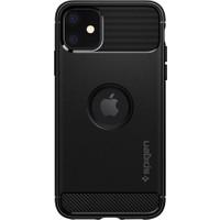 Spigen Apple iPhone 11 Kılıf Rugged Armor Black - 076CS27183