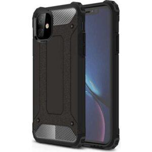 Case 4U Apple iPhone 11 Kılıf Çift Katmanlı Zırh Koruma Tank Crash Arka Kapak Siyah