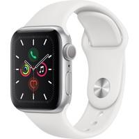 Apple Watch Seri 5 40mm GPS Silver Alüminyum Kasa ve Beyaz Spor Kordon MWV62TU/A