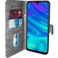 Huawei Y6 2019 Kılıf FitCase Fabric Kapaklı Cüzdanlı - Siyah