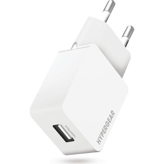 HyperGear Duvar Şarjı Tekli 2.1A - Beyaz