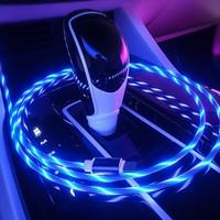 Codegen 3in1 Lightning-Micro USB-Type C Mıknatıslı Mavi Ledli Şarj Data Kablosu CDG-CNV81