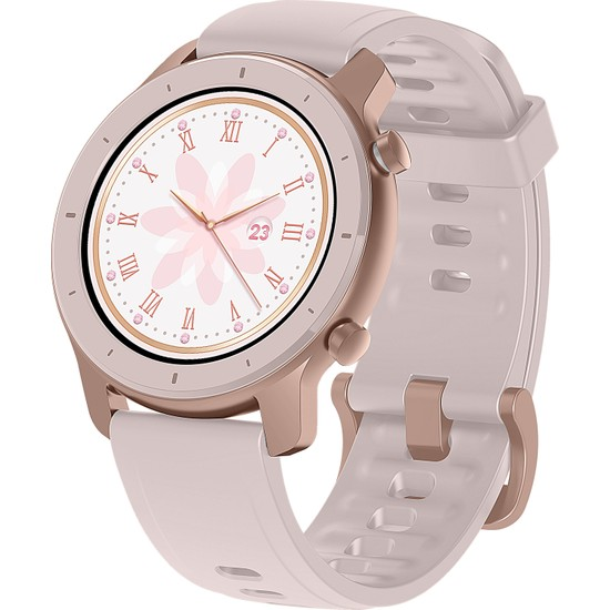 Amazfit GTR Akıllı Saat - Amoled Retina Ekran - 5 ATM Suya Dayanıklı - 42m - Cherry Blossom Pink - Distribütör Garantili