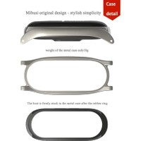 Case 4U Xiaomi Mi Band 4 - Mi Band 3 Akıllı Bileklik Metal Kayış Kordon Milano - Siyah