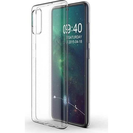 Tekno Grup Samsung Galaxy A71 Kılıf Darbe Emici Süper Silikon Kılıf Şeffaf