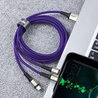 Baseus Caring Touch Serisi 3in1 Çoklu Data ve Şarj Kablosu - Mavi