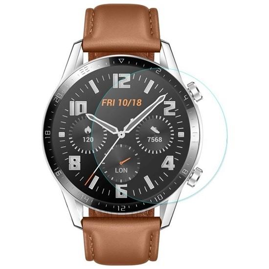 Ally Huawei Watch GT 2 46 mm Tempered Ekran Koruyucu Koruyucu AL-31642 - Şeffaf