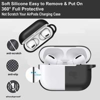 Makt Apple Airpods Pro Kancalı Silikon Kılıf Gri