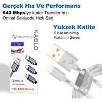 Helixsun 3.0 Micro USB Hızlı Data ve Şarj Kablosu Android 2 Metre - Füme