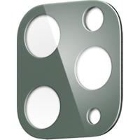 Spigen Apple iPhone 11 Pro Max / iPhone 11 Pro Kamera Lens Cam Ekran Koruyucu Full Cover Midnight Green / Gece Yeşili (2 Adet) - AGL00501