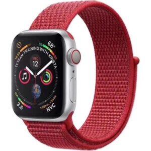 Zaks Apple Watch Serisi 1/2/3/4/5 Hasır Kordon 42 - 44 mm - Kırmızı