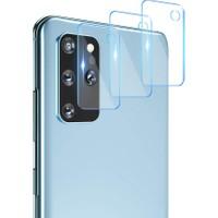 KNY Samsung Galaxy S20 Plus Kamera Koruma Cam Ekran Koruyucu Şeffaf
