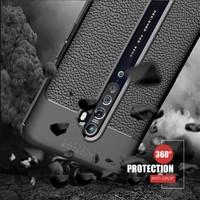 Case 4U Oppo Reno 2Z Kılıf Darbeye Dayanıklı Niss Arka Kapak + Cam Ekran Koruyucu Lacivert