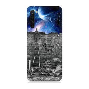 Teknomeg Xiaomi Redmi Note 8 Uzay Desenli Tasarım Silikon Kılıf