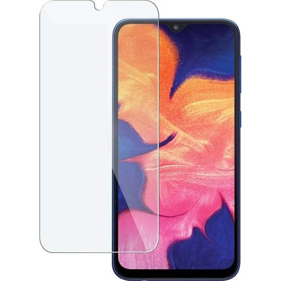 Case 4U Samsung Galaxy A10S Cam Ekran Koruyucu Temperli Cam Şeffaf
