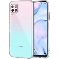 Teleplus Huawei P40 Lite Kılıf Lüks Silikon + Nano Ekran Koruyucu Şeffaf