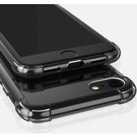 Case 4U Apple iPhone SE 2020 Kılıf Darbe Emici Silikon Arka Kapak Şeffaf