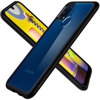 Spigen Samsung Galaxy M31 Kılıf Ultra Hybrid Matte Black - ACS00910