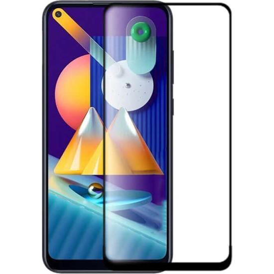 Tekno Grup Samsung Galaxy M11 Tam Kaplayan Tempered Cam Ekran Koruyucu Şeffaf