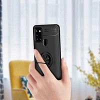 Fibaks Samsung Galaxy M31 Kılıf Magentic Serisi Yüzüklü Silikon