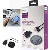 Philips 15W Quickcharge3.0 Kablosuz Şarj Seti