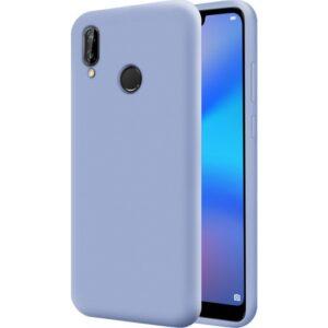 Mobilteam Huawei P20 Lite Kılıf İçi Kadife Lansman Kapak Açık Mavi