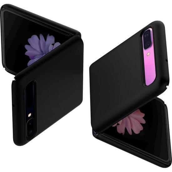 Spigen Samsung Galaxy Z Flip Kılıf Thin Fit Black - ACS01033