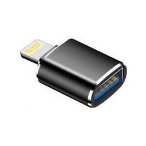 Daytona Lightning to USB OTG Data Aktarım Tak - Çalıştır Adaptör - Siyah