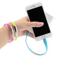 Codegen Apple iPhone iPad Lightning Mavi Bileklik Şarj Data Kablosu CDG-CNV62