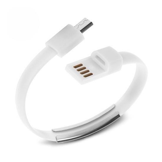 Codegen Micro USB Port Beyaz Bileklik Şarj Data Kablosu CDG-CNV64