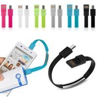 Codegen Micro USB Port Siyah Bileklik Şarj Data Kablosu CDG-CNV63