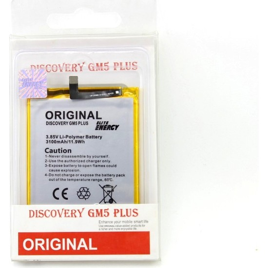 ACL Energy General Mobile Discovery GM5 Plus Batarya Pil