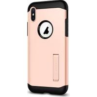 Spigen Apple iPhone XS / iPhone X Kılıf Slim Armor Blush Gold - 057CS22140